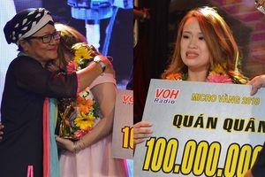 Cô gái Đà Nẵng bật khóc nức nở khi đăng quang quán quân 'Micro vàng - Tôn vinh giọng nói'