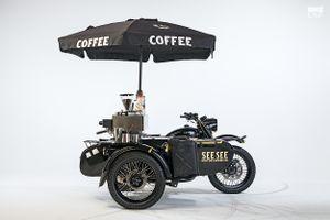Môtô Ural độ phong cách xe bán cà phê di động