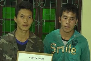 Bắt 2 đối tượng người Lào, thu giữ 10 bánh heroin