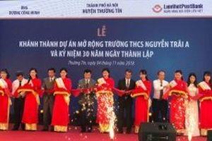 Khánh thành dự án mở rộng Trường THCS Nguyễn Trãi A
