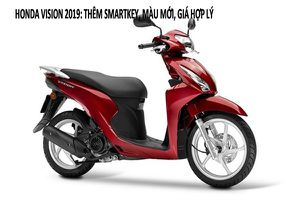 Honda Vision 2019: Thêm smartkey, màu mới, giá tăng 2 triệu đồng