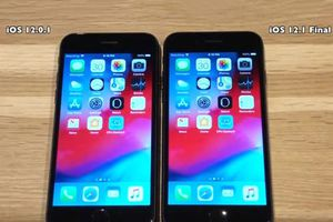Clip: So sánh tốc độ iOS 12.1 với iOS 12.0.1