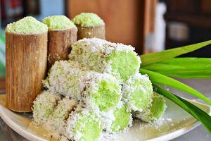Bánh ống lá dứa, món ăn vặt hấp dẫn
