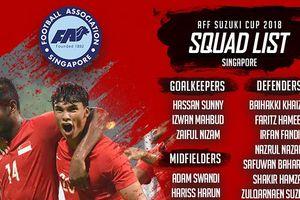 Singapore chính thức chốt danh sách dự AFF Cup 2018
