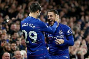Morata thăng hoa đưa Chelsea lên vị trí nhì bảng