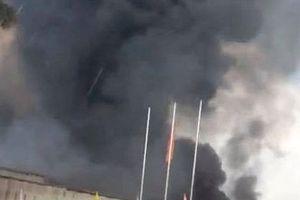 Hưng Yên: Cháy lớn tại kho của Công ty Dược Hà Hưng