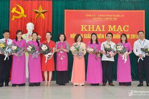Khai mạc Hội thi giảng viên dạy giỏi Trường Chính trị tỉnh năm 2018