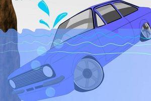 Kỹ năng thoát hiểm trên xe hơi khi rơi xuống nước