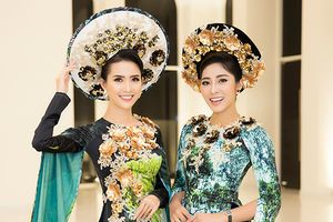 Hoa hậu Phan Thị Mơ, Hoa hậu Thu Thảo lộng lẫy với áo dài họa tiết hang động Quảng Bình