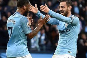 Man City trở lại ngôi đầu bảng Premier League