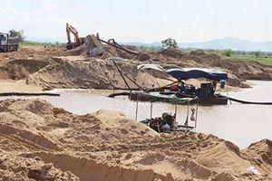 Siết chặt hoạt động khai thác cát vùng hạ lưu sông Đà Rằng