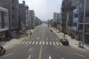 Con đường 600 m gần 200 tỷ đồng đẹp nhất quận Long Biên nhìn từ flycam