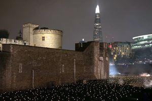 Thắp sáng Tháp London kỷ niệm Thế chiến I