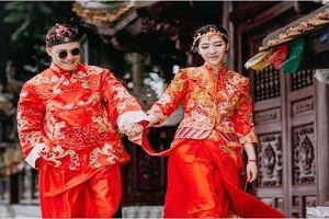 Chết mê bộ ảnh cưới kiểu Trung Quốc của cặp đôi Việt