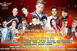 Truyền Thông Vua Mạng Xã Hội cùng Châu Khải Phong tổ chức liveshow kỉ niệm 10 năm ca hát tại quê hương Nghệ An