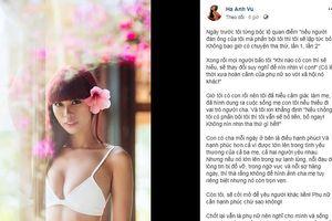 Siêu mẫu Hà Anh: 'Nếu chồng phản bội, tôi sẽ bỏ liền, bỏ ngay'