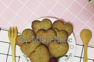 Mùa đông làm bánh quy hạnh nhân hạt chia ăn hoài không lo béo