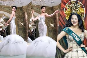 Diện váy dạ hội cùng 'tủ đồ' với Phương Khánh, H'Hen Niê hóa công chúa trước thềm Miss Universe 2018
