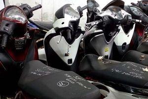 Tìm chủ sở hữu hợp pháp của 6 chiếc xe máy tang vật trong 6 vụ trộm