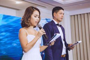 Bình Minh dẫn chương trình cùng em gái của siêu mẫu Hà Anh