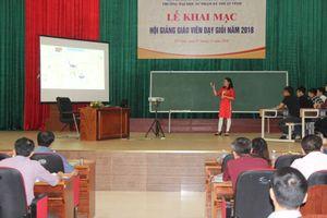 Trường ĐH Sư phạm Kỹ thuật Vinh (Nghệ An): Hội giảng giáo viên dạy giỏi
