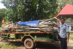 Tạm giữ 2 tấn sắt phế liệu vận chuyển trái phép qua biên giới Hà Tiên