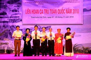 Nghệ An giành giải A tập thể, 2 giải cá nhân tại Liên hoan Ca trù toàn quốc
