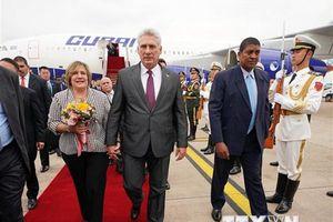 Cố vấn chính trị hàng đầu của Trung Quốc tiếp Chủ tịch Cuba