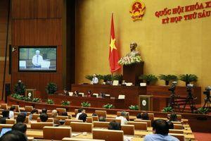 Quốc hội thảo luận tại Hội trường về dự thảo Luật Đặc xá (sửa đổi).