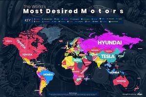 Toyota là hãng xe được tìm kiếm nhiều nhất trên Google