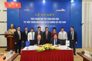 Tổng Công ty viễn thông MobiFone ký kết hợp tác toàn diện với Tổng công ty Đường sắt Việt Nam