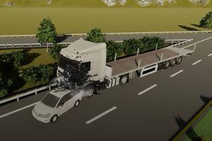 'Quá vô lý khi xe container giảm tốc độ 62 km/h về 0 chỉ trong 1 giây'