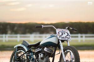 Chi tiết Harley WLA lột xác thành phong cách Flat Tracker ở Mỹ