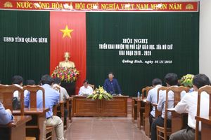 Quảng Bình: Đặt chỉ tiêu 100% xã, phường, thị trấn đạt chuẩn PCGD THCS mức độ 3
