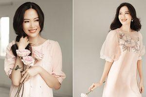 Hoa hậu Thu Thủy đẹp rực rỡ ở tuổi 43