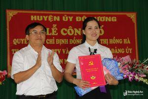 Phó Trưởng ban Tuyên giáo Huyện ủy Đô Lương giữ chức Bí thư Đảng ủy xã Bồi Sơn