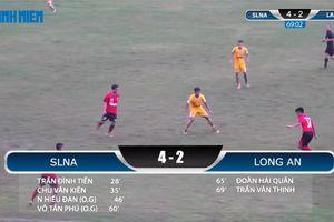 VCK U21 QG: SLNA thắng dễ Long An ngày ra quân