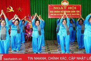 Sôi nổi khí thế trước ngày hội Đại đoàn kết toàn dân ở Hà Tĩnh