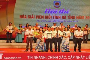 Xã Đức Bồng nhất Hội thi Hòa giải viên giỏi tỉnh Hà Tĩnh 2018