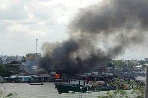 Cần Thơ: Cháy lớn sát chợ nổi Cái Răng