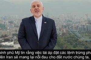 Lệnh trừng phạt vừa có hiệu lực, Iran tung ngay video gửi thông điệp cứng rắn tới Mỹ