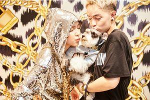 Kelbin Lei mang cún cưng, Phí Phương Anh quậy tưng 'phá đảo' sự kiện thời trang
