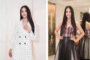Choáng ngợp với số lượng quần áo và giày dép mà Hoa hậu Tiểu Vy mang đi thi Miss World