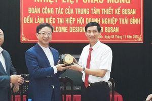 Hiệp hội Doanh nghiệp Thái Bình ký kết hợp tác với Trung tâm thiết kế Busan Hàn Quốc