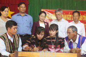 Bình Định: Ngày hội Đại đoàn kết toàn dân tộc điểm làng M9
