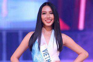 Nguyễn Thúc Thùy Tiên thi áo tắm ở chung kết Hoa hậu Quốc tế