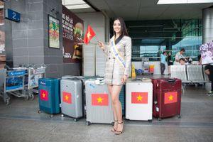 Tiểu Vy mang 150kg hành lý lên đường chinh chiến Hoa hậu Thế giới