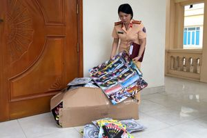 Thanh Hóa: Hàng tấn bánh kẹo, đồ chơi bạo lực bị bắt giữ trên đường đi tiêu thụ