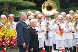 Hình ảnh Tổng Bí thư, Chủ tịch nước đón Chủ tịch Cuba thăm Việt Nam