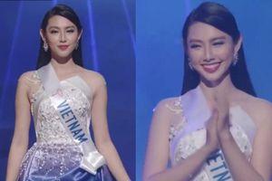 Thùy Tiên đã có hành động ghi điểm khi kết thúc phần thi của mình tại Chung kết Miss International 2018